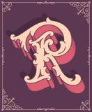 Lettre colorée par vecteur R Images libres de droits