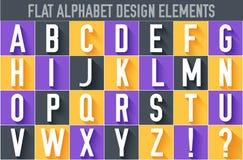 Lettre colorée plate du fond de concept de construction d'illustration de vecteur d'alphabet illustration libre de droits