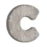 Lettre décorative C de fourrure Photos stock