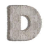 Lettre décorative D de fourrure Images libres de droits