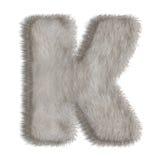 Lettre décorative K de fourrure Photographie stock libre de droits
