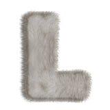 Lettre décorative L de fourrure Image stock