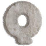 Lettre décorative Q de fourrure Image stock