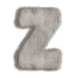 Lettre décorative Z de fourrure Photos libres de droits