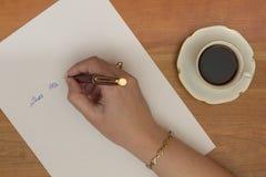 Lettre d'écriture Image stock