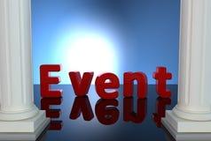 Lettre d'événement Photographie stock