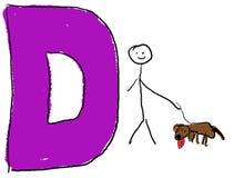 Lettre D illustration stock