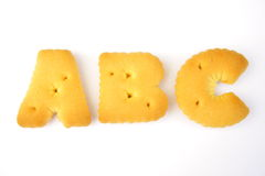 Lettre d'ABC Photographie stock libre de droits