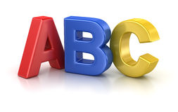 Lettre d'ABC Photos libres de droits