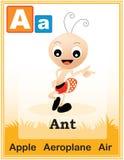 Lettre A d'alphabet Images libres de droits