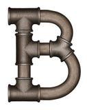 Lettre d'alphabet de tuyau image libre de droits