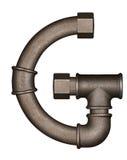 Lettre d'alphabet de tuyau Images libres de droits