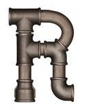 Lettre d'alphabet de tuyau photo stock
