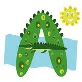 Lettre A d'alphabet du ` s d'enfants illustration stock
