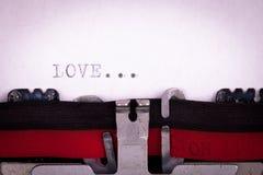 Lettre d'amour écrite Photo stock