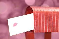 Lettre d'amour Photographie stock