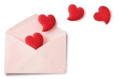 Lettre d'amour Photos stock
