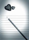 Lettre d'amour Photo libre de droits