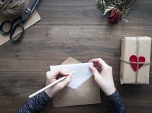 Lettre d'amour Photographie stock libre de droits