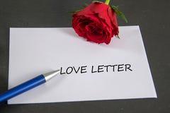 Lettre d'amour Photo stock