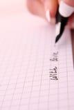 lettre d'amour d'écriture Photographie stock libre de droits