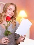 Lettre d'amour de lecture Image libre de droits