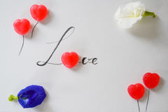 Lettre d'amour de sucrerie douce Photo stock