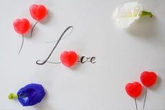 Lettre d'amour de sucrerie douce Photo stock