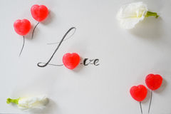 Lettre d'amour de sucrerie douce Image libre de droits