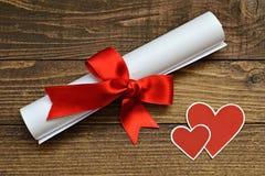 Lettre d'amour de Valentine Day Photographie stock libre de droits