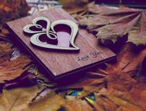 Lettre d'amour en automne Image stock