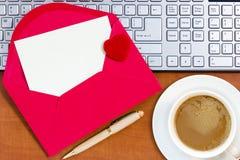 Lettre d'amour pour la Saint-Valentin Photos libres de droits