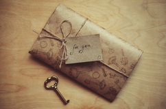 Lettre d'amour pour le jour de valentine Image libre de droits
