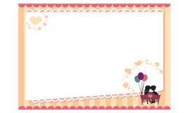 Lettre d'amour romantique de lettre Photos stock