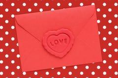 Lettre d'amour rouge Photo libre de droits