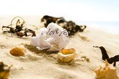 Lettre d'amour vissée Images libres de droits