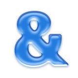 Lettre d'Aqua Image libre de droits