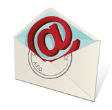 Lettre d'email Image stock