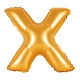 Lettre X d'orange d'alphabet anglais Photo libre de droits
