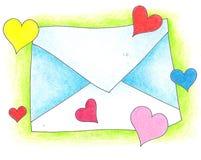 Lettre dans l'amour Images libres de droits