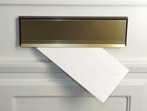 Lettre dans la boîte aux lettres