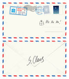 Lettre de carte postale de Santa Photo stock