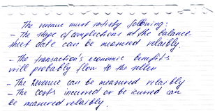 Lettre de cru écrite par la clavette d'encre Photo stock