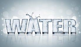 Lettre de l'eau Photographie stock libre de droits
