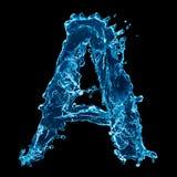 Lettre de l'eau bleue Images stock