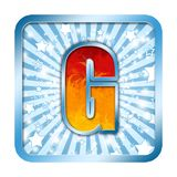 lettre de la célébration g d'alphabet illustration de vecteur