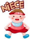 Lettre de nièce Photo stock