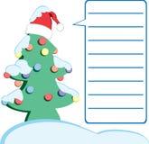 Lettre de Noël Photos libres de droits