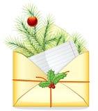 Lettre de Noël Images libres de droits