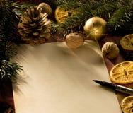 lettre de Noël image stock